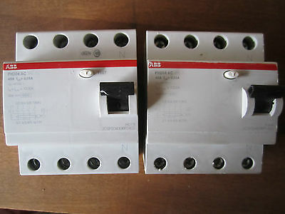 ABB Safety Switch 40amp 4 Pole RCD 415V MAX 4 3 Phase