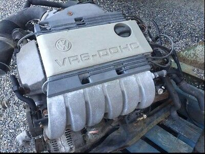 VW VR6 DOHC 2.8 Engine AAA with Gearbox 130k