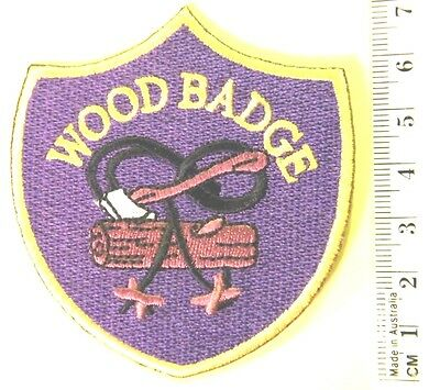 """SCOUT LEADER """"WOOD BADGE"""", WOSM International Leader Training Badge, embroidered"""