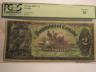 1897 $2 Dominion of Canada DC-14c PCGS Certified and Graded Very Fine 20