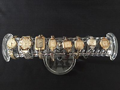 Lot of 8 Women's Watches Elgin Bulova Longines Landau Micron Helbros Run As Is