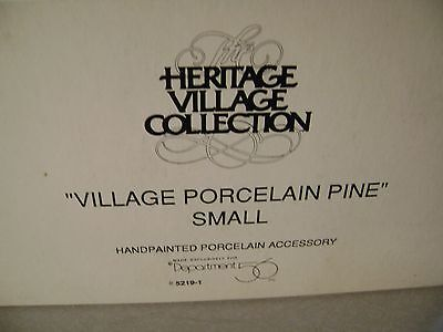 Brand New! Heritage Village Collection Village Porcelain Pine Small Tree 52191