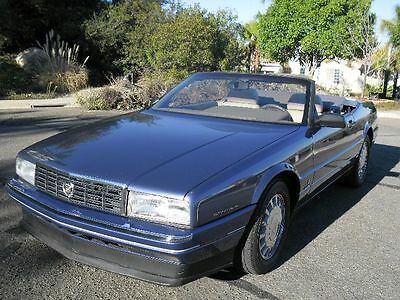 1993 Cadillac Allante Hardtop Car Perfect Carfax - Late 93 Car with Rare Factory Chrome Wheels - Everything works