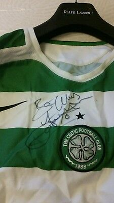 Signed Celtic football shirt by Celtic legend John Hartson