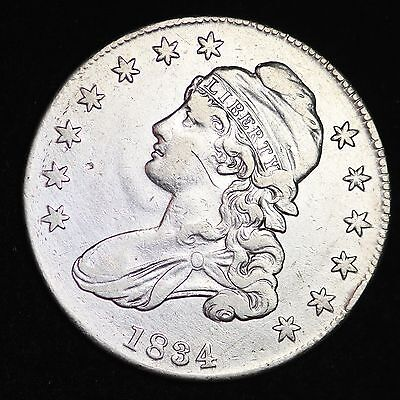 1834 Capped Bust Half Dollar CHOICE XF FREE SHIPPING E268 TMT