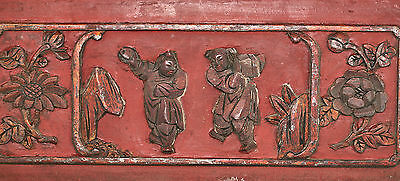 Antique Chinese Wood Carving From Old Window Guaranteed Over 100 Years Old