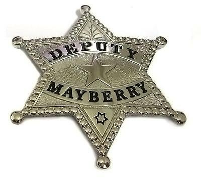 FREE KEYCHAIN & Patch DEPUTY MAYBERRY Prop BADGE Don Knotts Andy Griffith Show