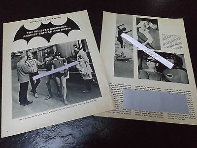 1967 Adam West Burt Ward Magazine Article Clipping Whisper Campaign Against Them