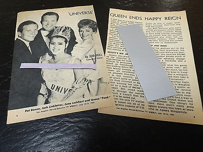 1966 Universe Queen Tv Guide Article Clipping Miss Thailand Apasra Hongsakula