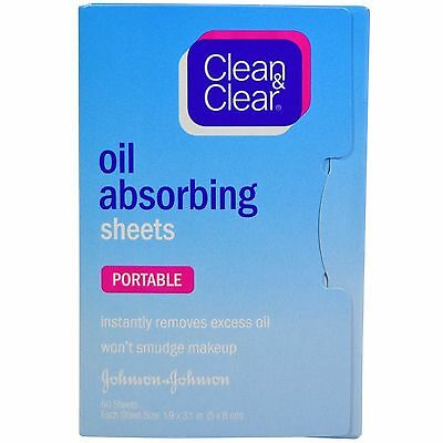 Clean & Clear oil absorbing blotting tissue sheets (portable, incl. 50 sheets)