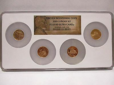 2009-S Lincoln Bicentennial Proof NGC PF69 RD Ultra Cameo 4 Coin Multi-Holder