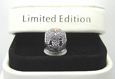 Genuine Pandora S/ Silver Gold Limited Edition Snow Globe charm bag