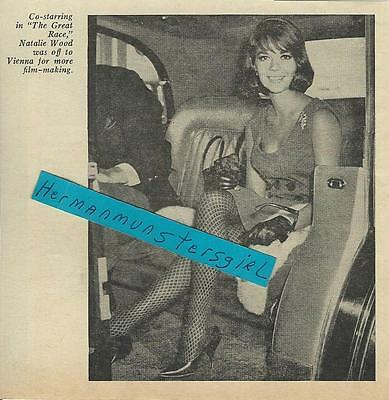 1964 Natalie Wood Magazine Ad Clipping In Limousine
