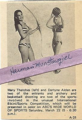 1969 Wide World Of Sports Tv Guide Ad Clipping Bikini Sports Bikiniclad Entrants