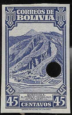 BOLIVIA (12)1943 PROOF   Sc # 291 45c PROOF MINT STAMP IMPERFORATED