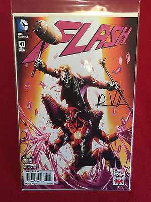 The New 52 The Flash #41 Variant Edition Cover Comic Book Signed Robert Venditti