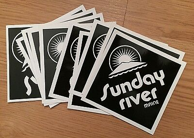 Sunday River Maine Ski Skiing Snowboard Small Sticker Lot Of 11