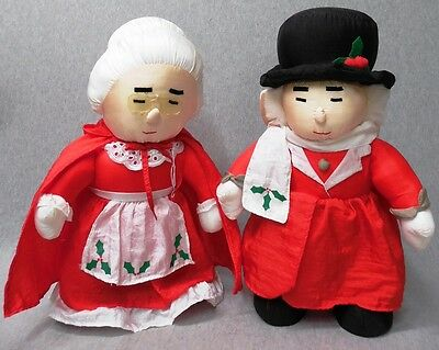 1978 Marshall Field Uncle Mistletoe & Aunt Polly Plush Figures i241