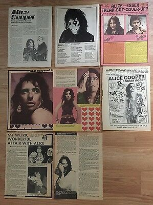 Vintage 1970s 80s Alice Cooper Magazine Clippings Articles Pinups
