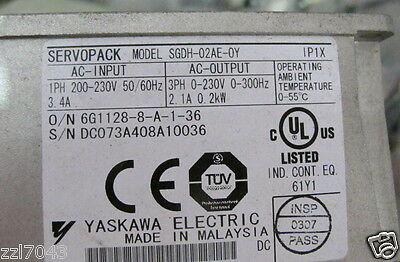 1pc Yaskawa Servo Drives SGDH-02AE-OY 200W Tested