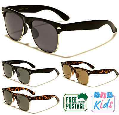 Kids / Children Clubmaster Style Sunglasses 8-12 Years Old Boys / Girls
