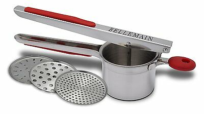 Potato Ricer Interchangeable Fineness Discs Saucer Potatoes Totatoes Masher