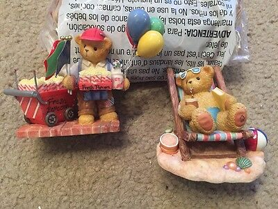 Cherished Teddies Ron And Ray 2 Piece Lot. 631345 And 706647E