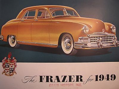 Kaiser-Frazer Sales Brochure/Poster for the 1949 Frazer and Manhattan Original