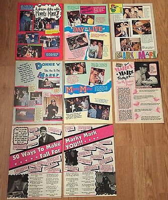 1990 Marky Mark Wahlberg Clippings Lot of 8
