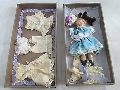 "Antique Vintage A LA SAMARITAINE Antique 5.5"" Bisque Doll Set"