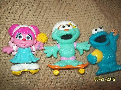 "Hasbro Sesame Street Lot of 3 Muppets Cookie Monster 3"" Tall Hard Resin Figures"