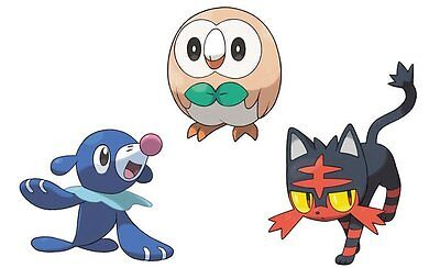 All 3 Shiny Alola Starters 6iv Litten Popplio Rowlet Pokemon