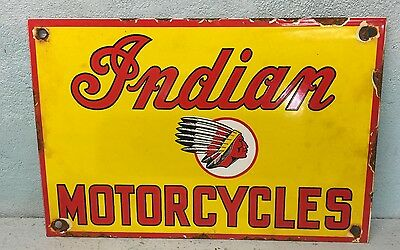 Indian Motorcycle Porcelain Metal Sign
