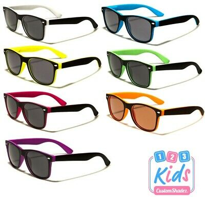Kids / Children's Retro Sunglasses -Two Tone Frame - 5/10 Years old Boys / Girls