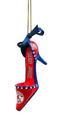 Fans With Pride Boston Red Sox High Heel Shoe Christmas Ornament