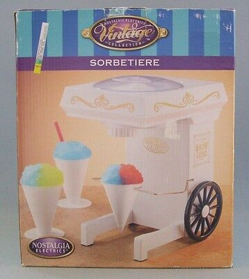 Snow Cone Maker Machine Nostalgia Electronics  Electric Shaved Ice Model SCM-802