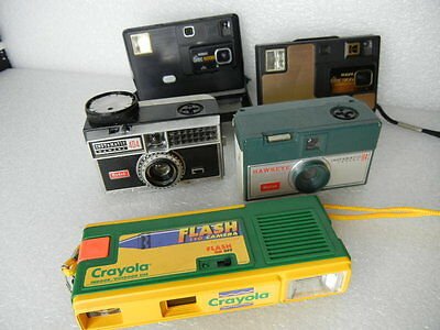 Lot Of 5 Film Cameras 110 126 Disc Collectables #44