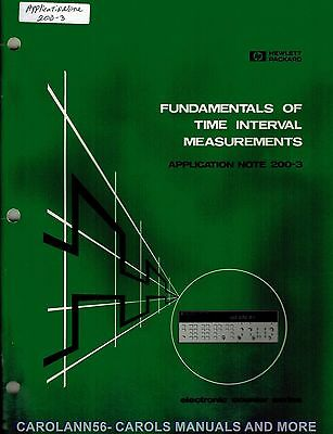 HP Application Note 200-3 FUNDAMENTALS OF TIME INTERVAL MEASUREMENTS