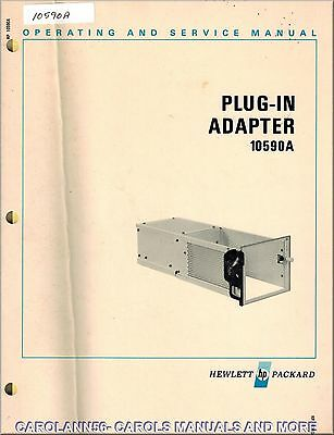 HP Manual 10590A PLUG-IN ADAPTER