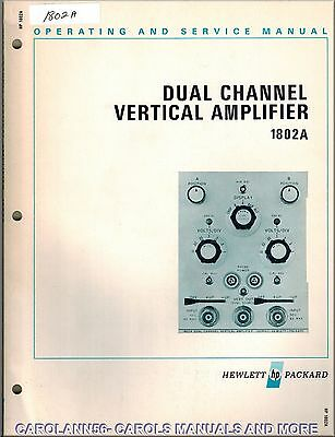 HP Manual 1802A DUAL CHANNEL VERTICAL AMPLIFIER