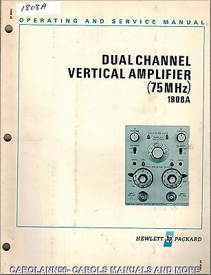 HP Manual 1808A DUAL CHANNEL VERTICAL AMPLIFIER 75 MHz