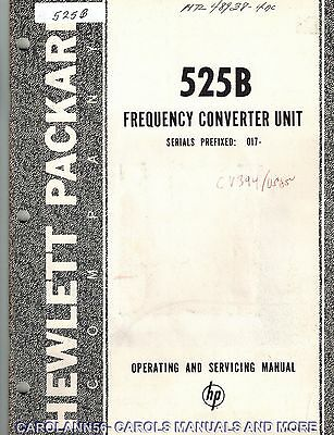 HP Manual 525B FREQUENCY CONVERTER UNIT