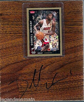 Dorell Wright Signed Floorboard comes with COA