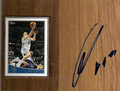 Linas Kleiza Toronto Raptors signed Floorboard with Card and COA