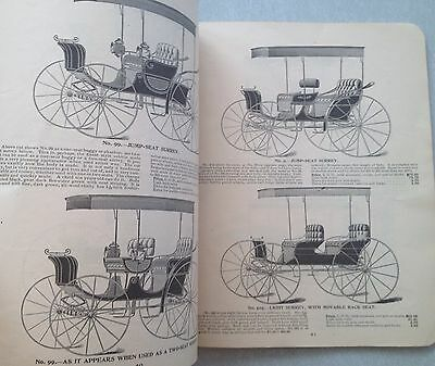 1898 Elkhart CARRIAGE & HARNESS mfg. Ind. 112 pg.  catalog horse buggy & carts