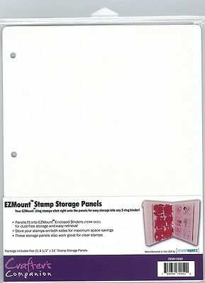 "Stamp Storage Panels - 8 1/2"" x 11"" - 5 panels/pack"