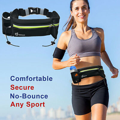 Reflective Sport Hiking Waist Bag Running Jogging Phone Pouch Belt 1Water Bottle