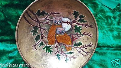 Rare Antique Mughal Islamic Tin Look Brass/Copper Bowl OTTOMAN - India Giftable