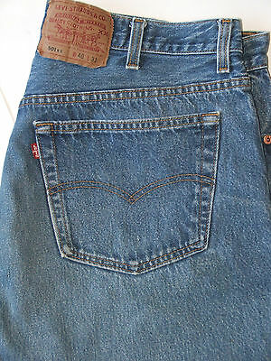 vtg 90s Levi's 501 Blue Jeans Button Fly Made in USA VGC Size 38x28