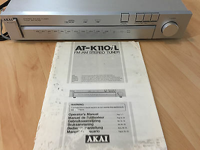AKAI AT-K110/L FM AM Stereo Tuner    (Top quality made in Japan)
